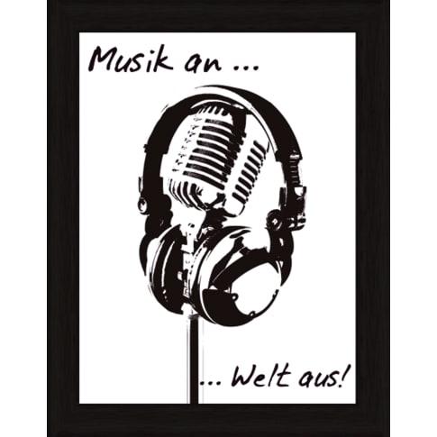 Bild Musik an, Welt aus Vorderansicht