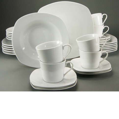 Geschirr-Set, 30-tlg. Antonia, spülmaschinengeeignet, Porzellan Vorderansicht