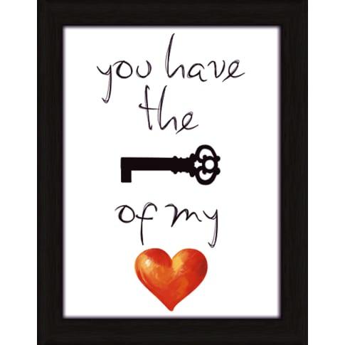 Bild Schlüssel für mein Herz Vorderansicht