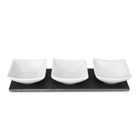 Servierschalen Tre Ardesia, Schiefer, Keramik Vorderansicht