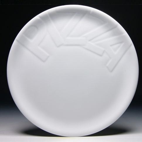 Pizzateller-Set, 4-tlg., Porzellan Vorderansicht