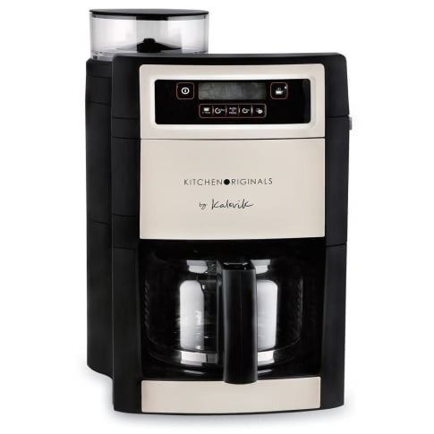 kaffeeautomat mit mahlwerk kitchen originals aromawahlfunktion lcd display. Black Bedroom Furniture Sets. Home Design Ideas
