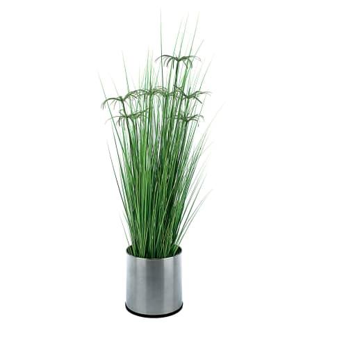 Kunstpflanze Zyperngras, Kunststoff, ca. H151 cm Vorderansicht