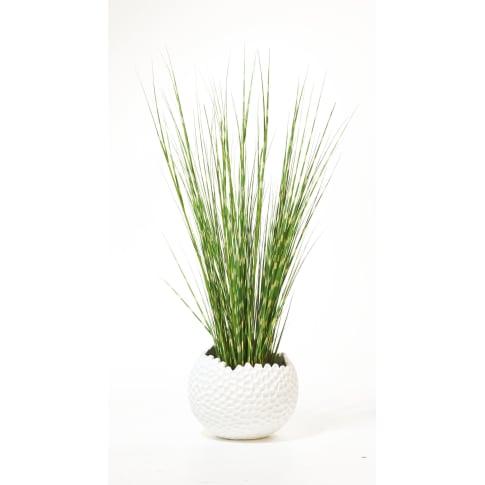 Kunstpflanze Zebragras Vorderansicht