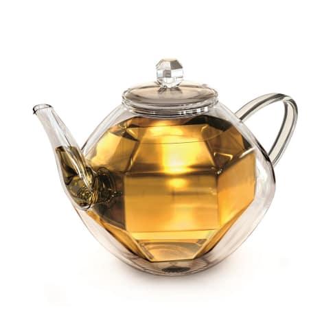 Doppelwandige Glas-Teekanne Diamond Vorderansicht