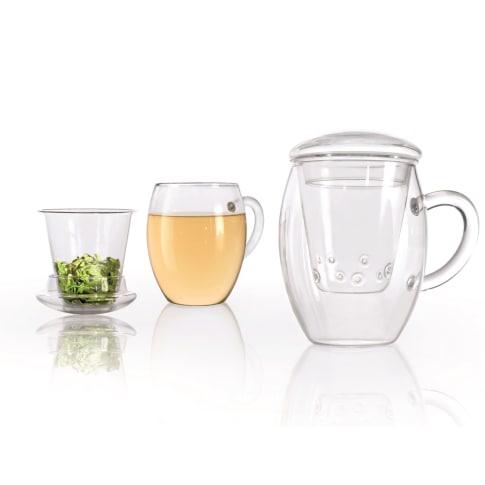 Tee-Glas-Set, 3-tlg. All-In-One Vorderansicht