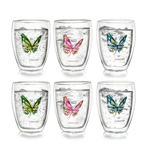 Thermoglas-Set, 6-tlg. Colourfly, 250ml Vorderansicht