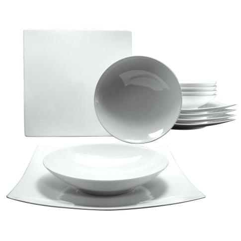Tafelservice, 12-tlg. Liv, spülmaschinen- und mikrowellengeeignet, Porzellan Vorderansicht