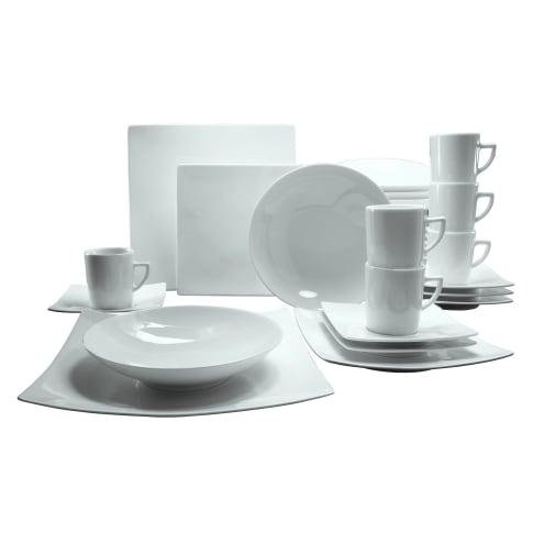 Geschirr-Set, 30-tlg. Liv, spülmaschinen- und mikrowellengeeignet, Porzellan Vorderansicht
