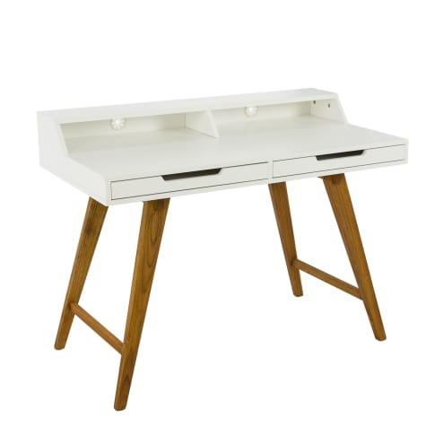 sekret r zwei schubladen schr ge beine modern walnussbaumholz mdf. Black Bedroom Furniture Sets. Home Design Ideas
