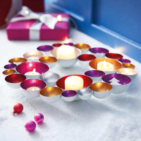 Teelichthalter Bubbles, glamourös, Metall, ca. Ø 40 cm Katalogbild