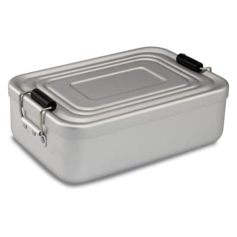 Proviantbox Lunchbox Quadra matt silber Vorderansicht