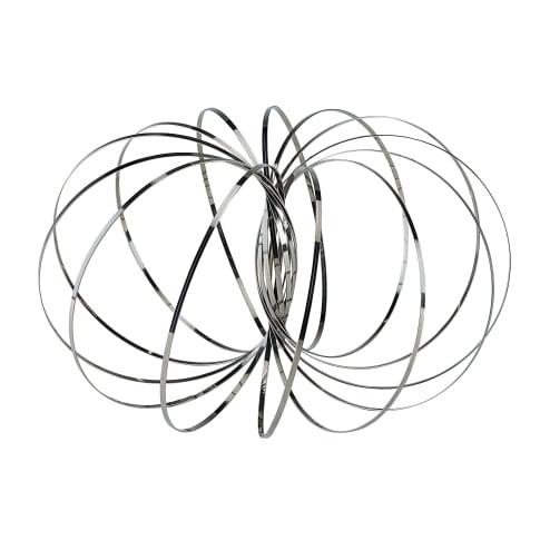 Geschicklichkeitsspiel Magic Ring, Flow Ring, Swirly Loop, Stahl, 13 cm Ø Vorderansicht