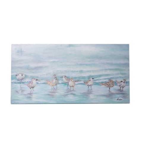 Bild Seevögel, handgemalt, Maritimer Look, ca. B100 x H50 cm Vorderansicht