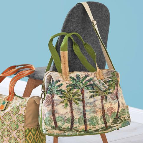 Tasche Palmen, mit Reissverschluss und abnehmbaren Schultergurt Katalogbild