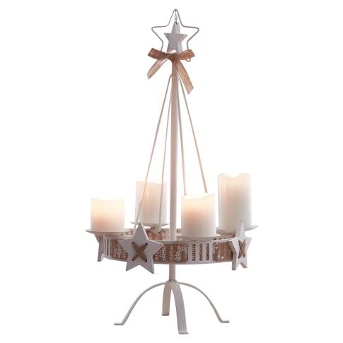 Kerzenständer White Christmas, ca. Höhe 57 cm Vorderansicht