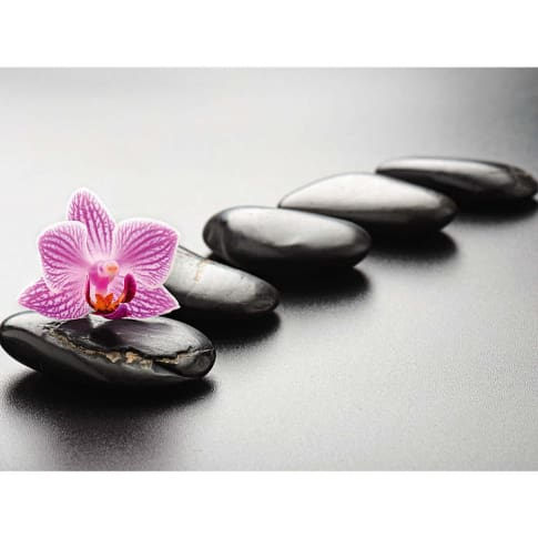 "Bild ""Spa concept with zen stones and orchid"" Vorderansicht"