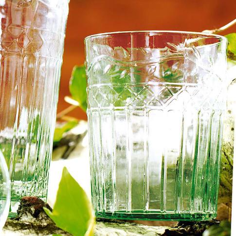 Wasserglas-Set, 6-tlg., Blätterrankenverzierung, Glas (recycelt) Katalogbild