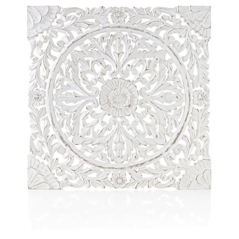 Wand deko holz ornamentik weiss 60x60 cm geschnitzt for Bilder deko wand