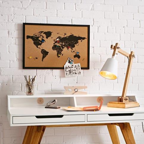 Pinnwand Weltkarte, 6 Pins, Kork Katalogbild