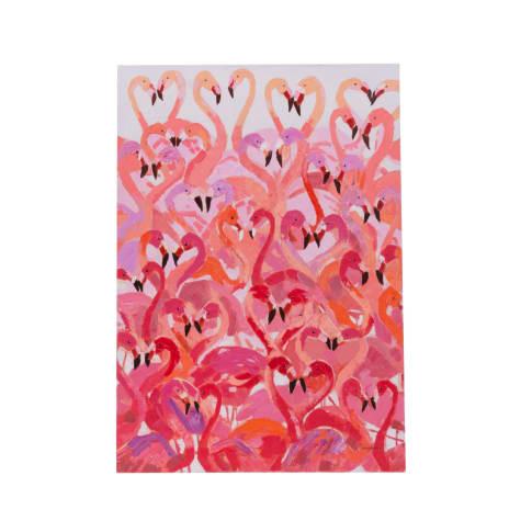 Bild Flamingos, handgemalt, ca. B70 x H100 cm Vorderansicht