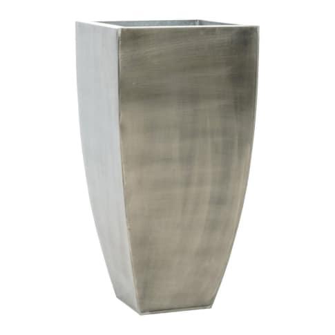 Pflanzgefäß, outdoorgeeignet, Stahl, Höhe ca. 68 cm Vorderansicht
