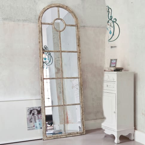 standspiegel marie fensteroptik shabby chic metall spiegelglas. Black Bedroom Furniture Sets. Home Design Ideas