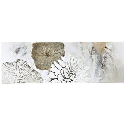 Bild Blüten Mix, Leinwand, Holz, Acrylfarbe, ca. B150x H50cm Vorderansicht