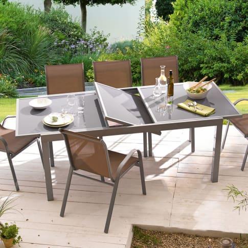 gartentisch futura ausziehbar aluminium. Black Bedroom Furniture Sets. Home Design Ideas