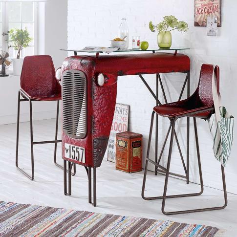 stuhl set 2 tlg traktor industrial look metall. Black Bedroom Furniture Sets. Home Design Ideas