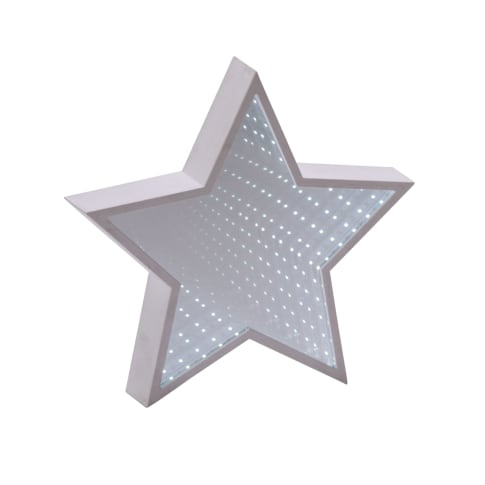 LED Deko-Objekt Spiegel-Stern, mit Tunneleffekt Vorderansicht