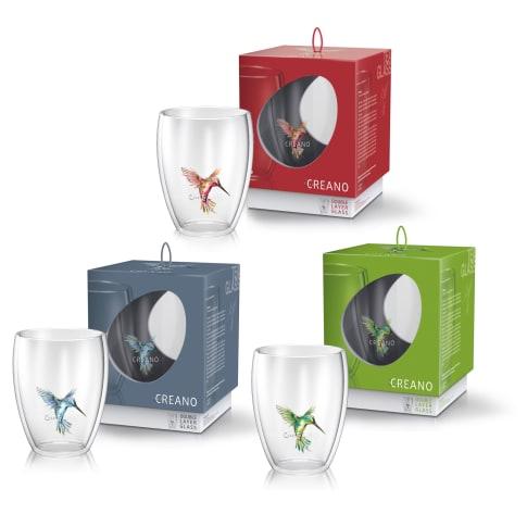 Thermoglas, 3er Set Hummi, 250 ml Vorderansicht