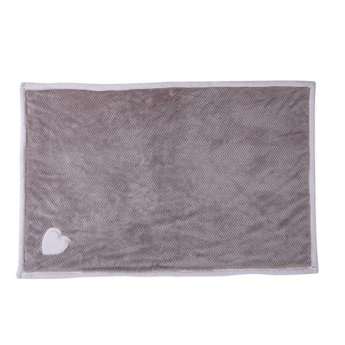 Plaid Herzchen, Romantik-Look, 100% Polyester, ca. L150 x B130 cm Vorderansicht