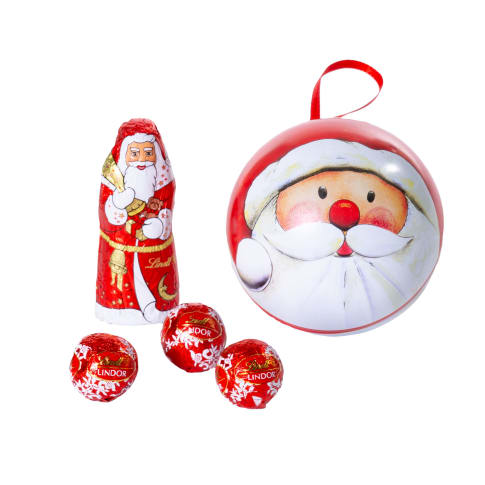 Weihnachtskugel mit Füllung Vorderansicht
