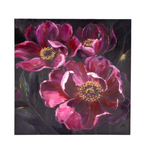 Bild Mystic Flowers, Handgemalt, ca. B80x H80cm Vorderansicht