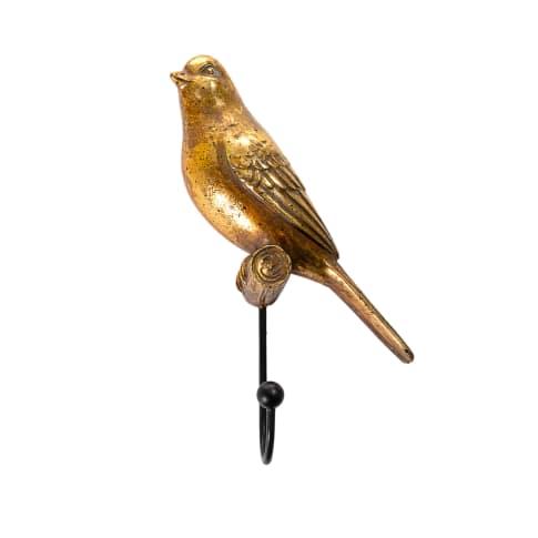 Wandhaken-Set, 3-tlg. Golden Birds Vorderansicht