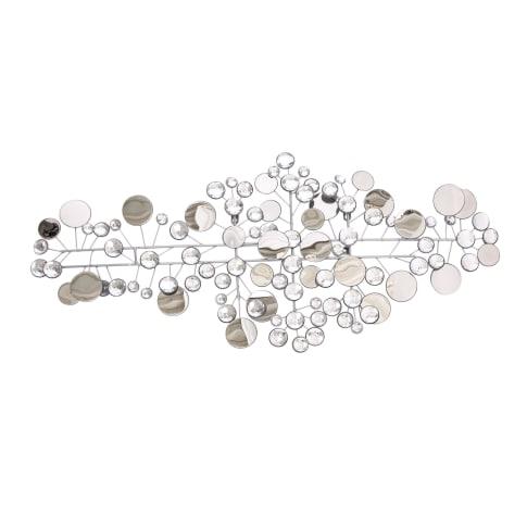 Wand-Deko-Objekt Sparkle, Metall, Spiegelglas, Deko-Kristalle Vorderansicht