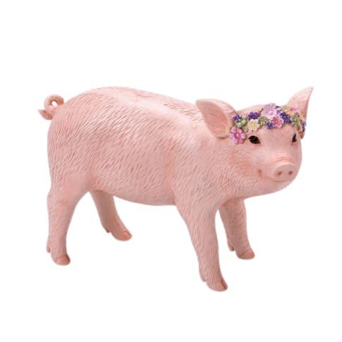 Deko-Figur Schwein Frederike Vorderansicht
