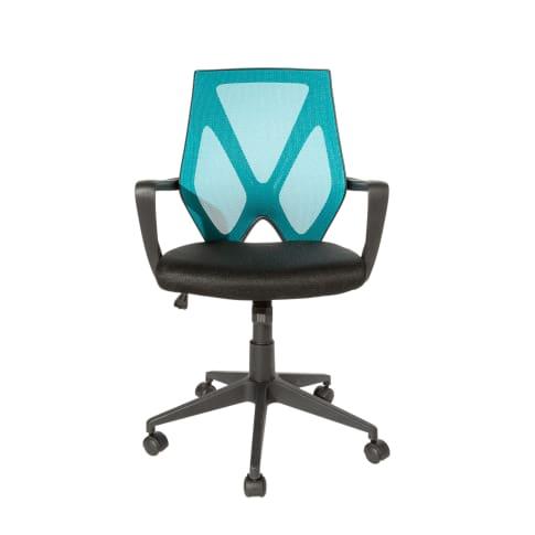 Bürostuhl Leon, farbige Rückenlehne, höhenverstellbar, Wippfunktion Vorderansicht