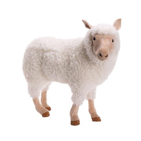 Deko-Figur Schaf Rosie, Kunststoff Vorderansicht