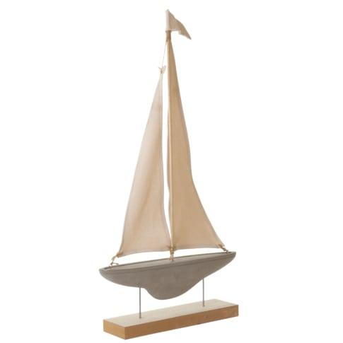 Deko-Objekt Segelschiff Vorderansicht