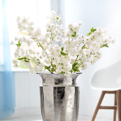 Deko-Kirschzweig Cherry, weiße Blüten, Polyester, Kunststoff, ca. L100 cm Katalogbild