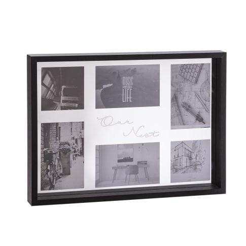 Wandobjekt Spiegel Bilderrrahmen Our Nest, verspiegelte Innenrückseite, modern, MDF, Glas, ca. 42 x 31 x 4 cm Vorderansicht