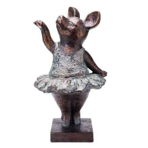 Deko-Figur Schweinchen Elsa, Outdoor geeignet Vorderansicht