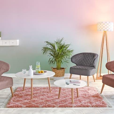 design teppich hochflor rose mit fransen 100 polypropylen. Black Bedroom Furniture Sets. Home Design Ideas