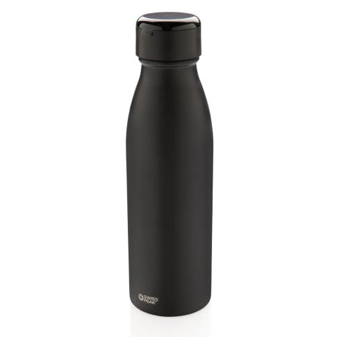 Vakuum Trinkflasche mit Kopfhörern Swiss Peak, Auslaufsicher Vorderansicht