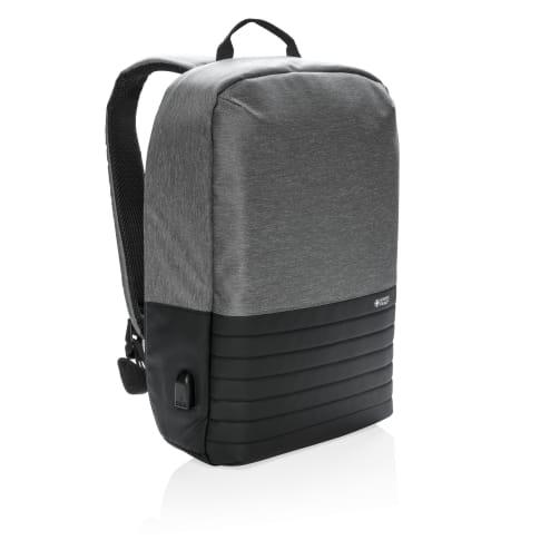 Anti-Diebstahl 15 `` Laptoprucksack RFID, Swiss Peak, gepolstertes Laptop- oder Tabletfach, USB Output Vorderansicht