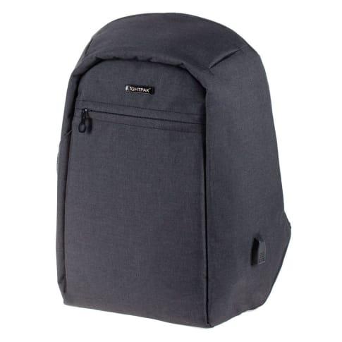 Rucksack Safebag, integrierter USB-Ladeport, gepolsterte Fächer für Laotop und Tablet Vorderansicht