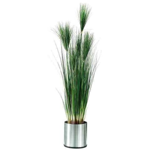 Kunstpflanze Papyrus, Kunststoff, ca. H154 cm Vorderansicht