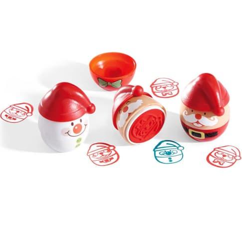 Stempelset, 15-tlg. Weihnachten, Kunststoff, 3,5 x 3 x 4,7 cm Vorderansicht